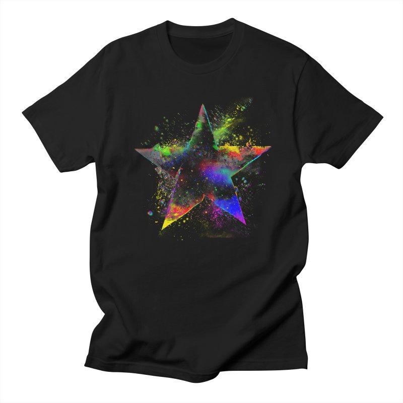 Shatter Star Men's Regular T-Shirt by Lumi