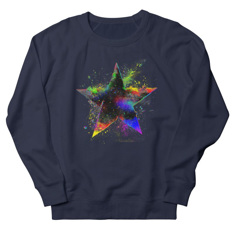 Shatter Star Women's French Terry Sweatshirt by Lumi