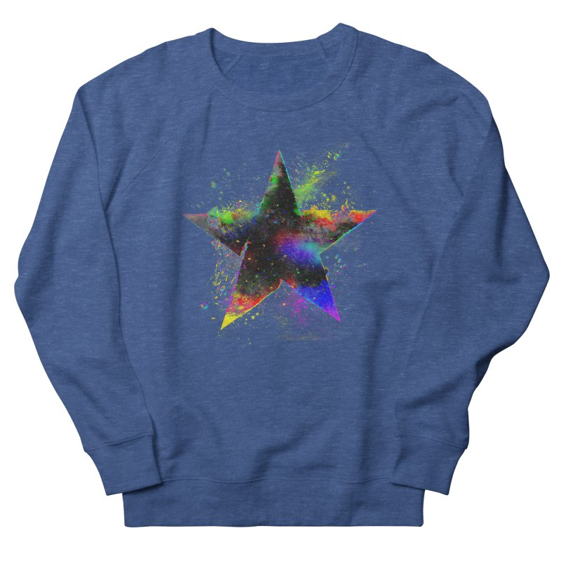 Shatter Star Men's French Terry Sweatshirt by Lumi