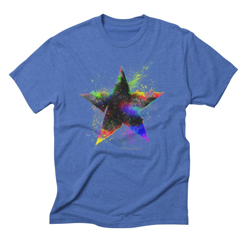 Shatter Star Men's Triblend T-Shirt by Lumi