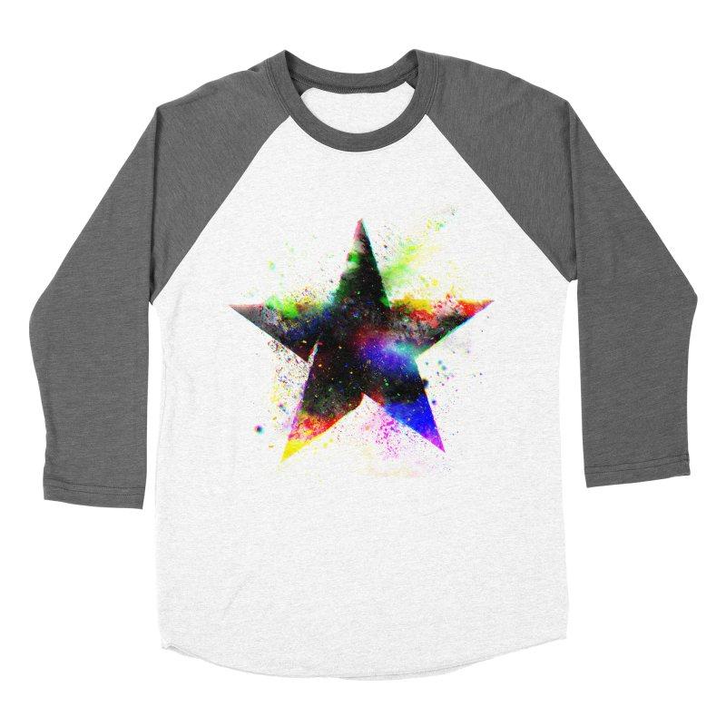 Shatter Star Men's Baseball Triblend Longsleeve T-Shirt by Lumi