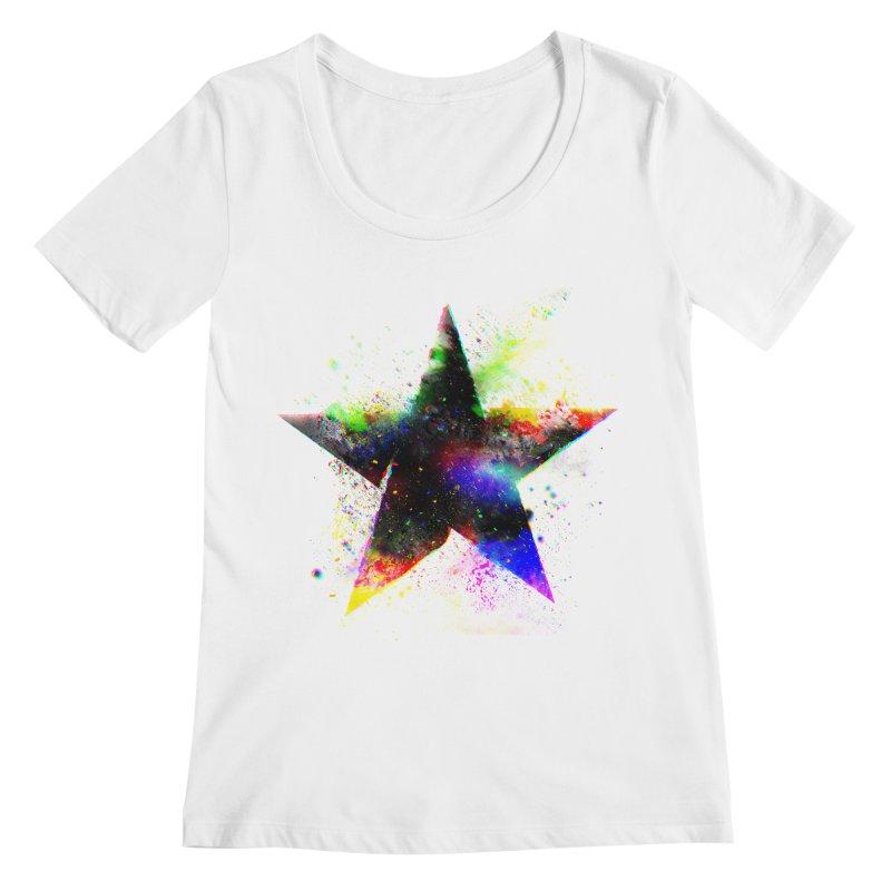Shatter Star Women's Regular Scoop Neck by Lumi