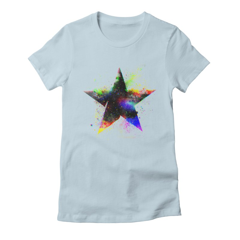 Shatter Star Women's Fitted T-Shirt by Lumi