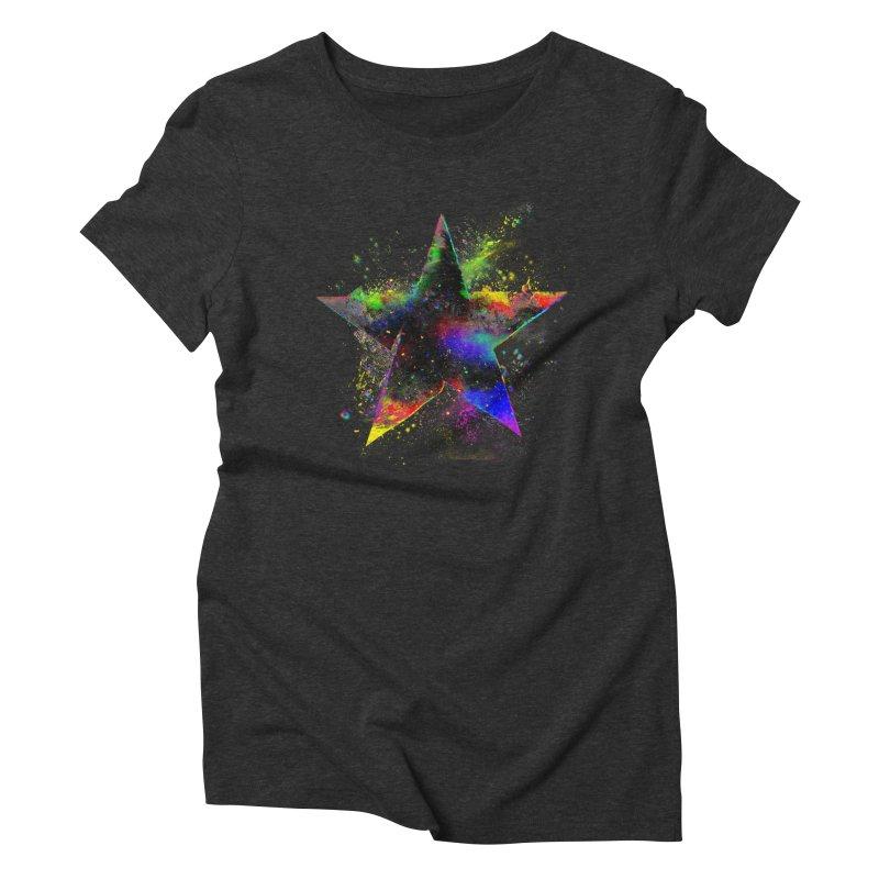 Shatter Star Women's Triblend T-Shirt by Lumi