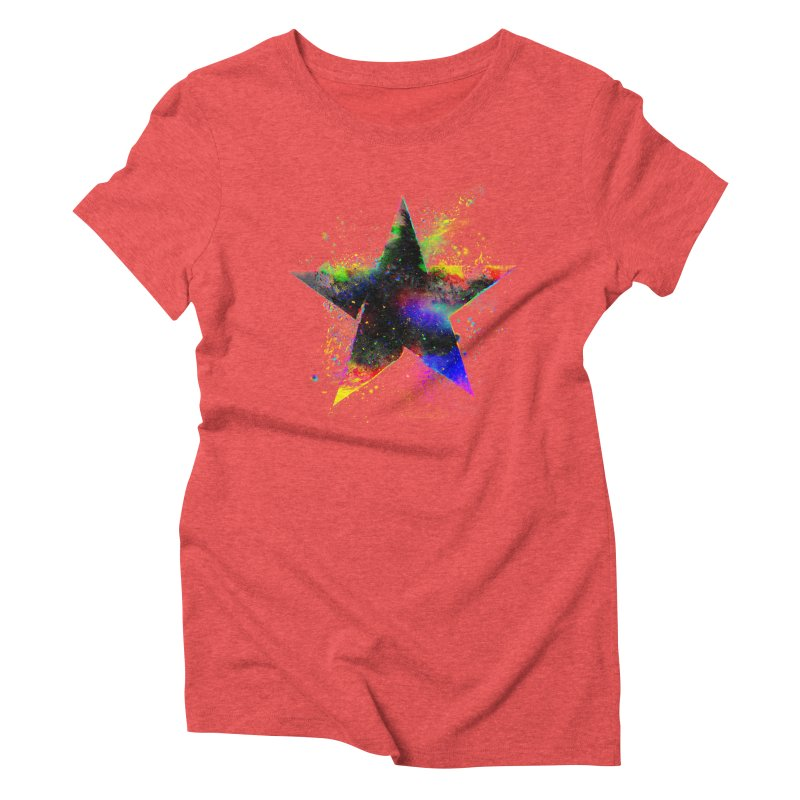 Shatter Star Women's Triblend T-Shirt by Lumi