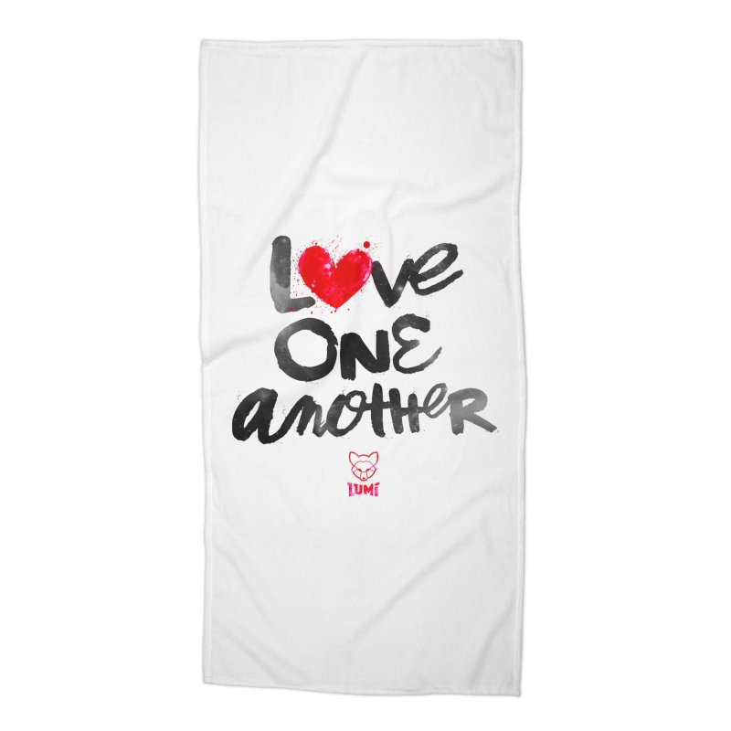 Love One Another Accessories Beach Towel by Lumi