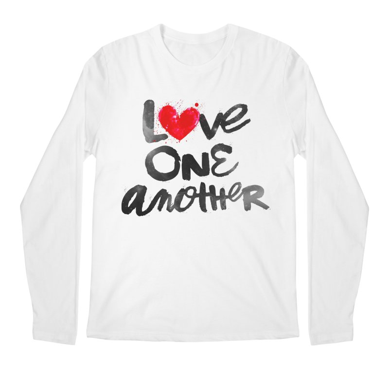 Love One Another Men's Regular Longsleeve T-Shirt by Lumi