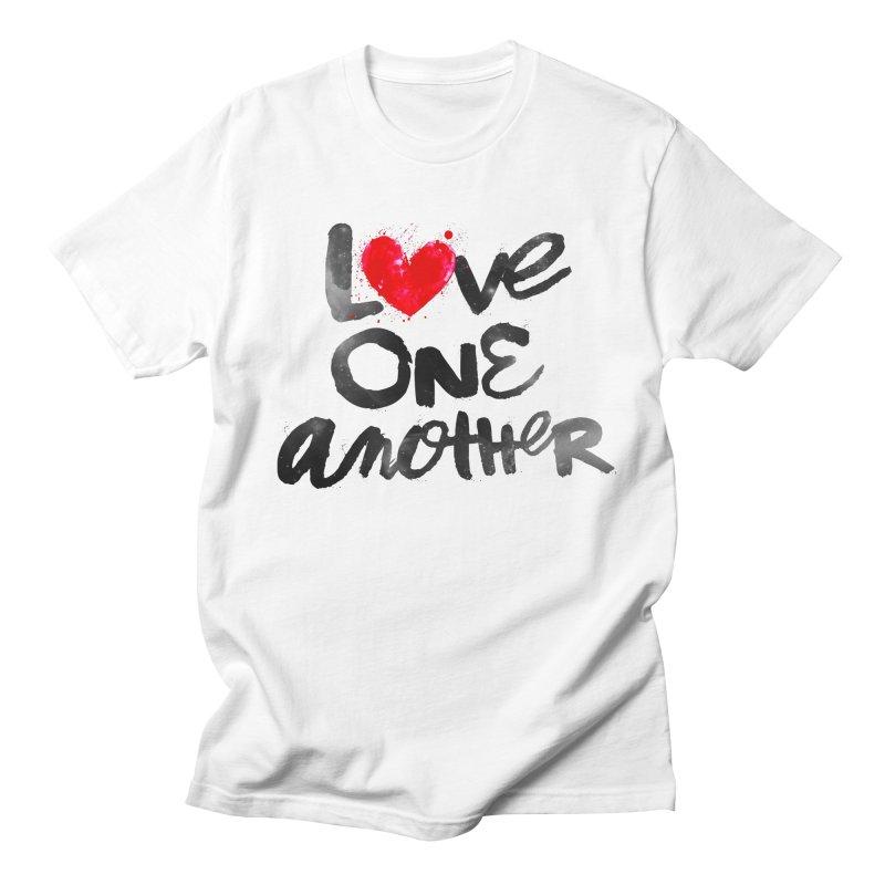 Love One Another Men's Regular T-Shirt by Lumi