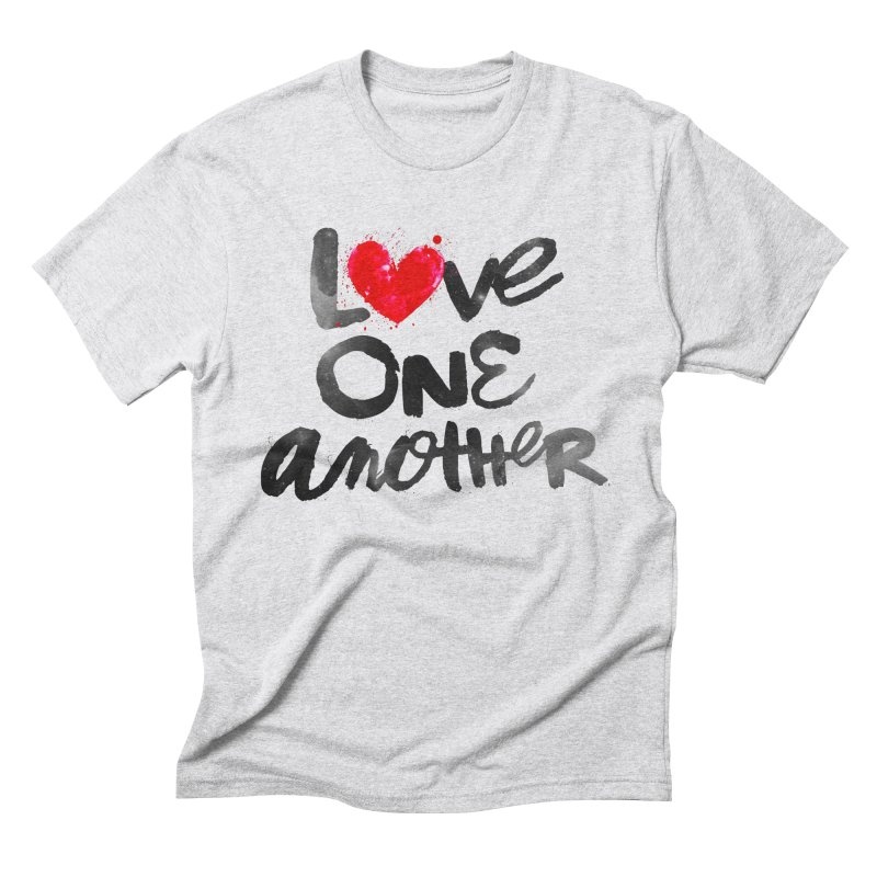 Love One Another Men's Triblend T-Shirt by Lumi