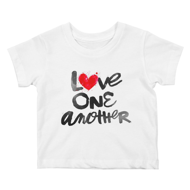 Love One Another Kids Baby T-Shirt by Lumi