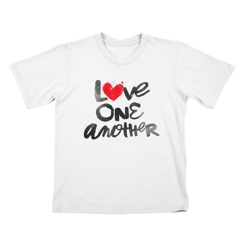 Love One Another Kids T-Shirt by Lumi