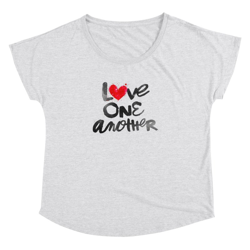 Love One Another Women's Dolman Scoop Neck by Lumi