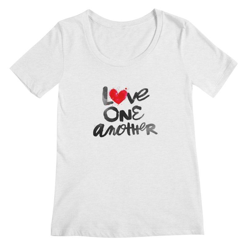 Love One Another Women's Regular Scoop Neck by Lumi