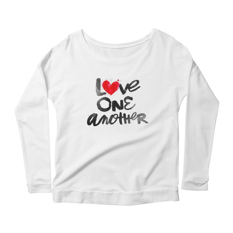 Love One Another Women's Scoop Neck Longsleeve T-Shirt by Lumi