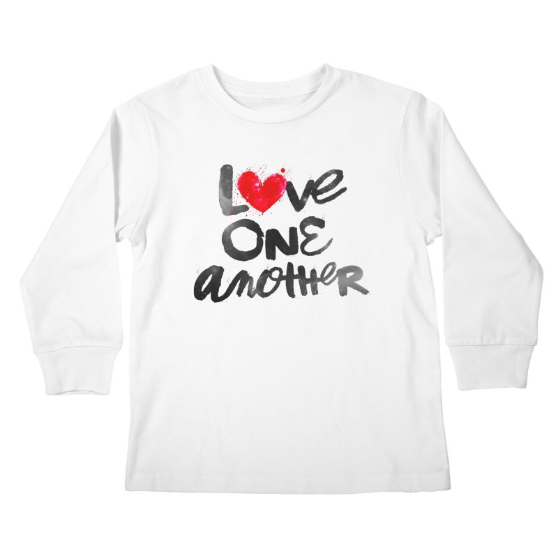 Love One Another Kids Longsleeve T-Shirt by Lumi