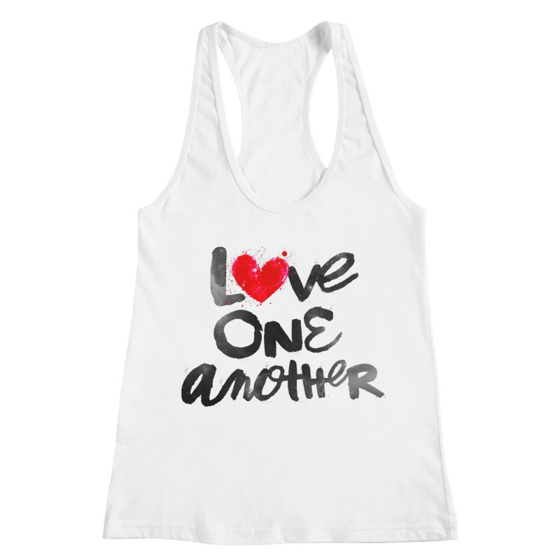 Love One Another Women's Racerback Tank by Lumi