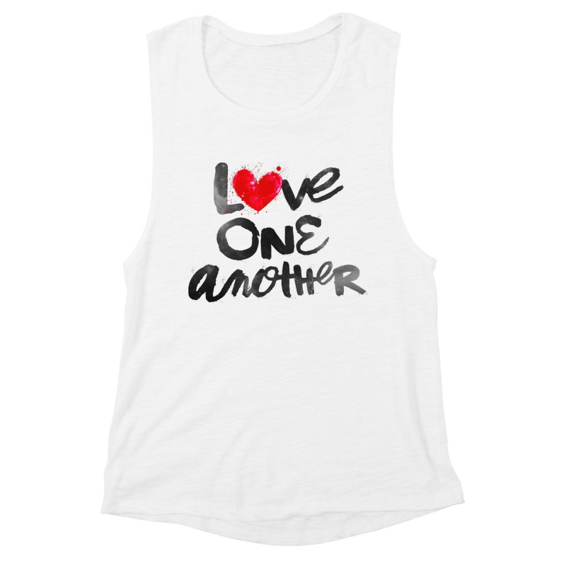 Love One Another Women's Muscle Tank by Lumi