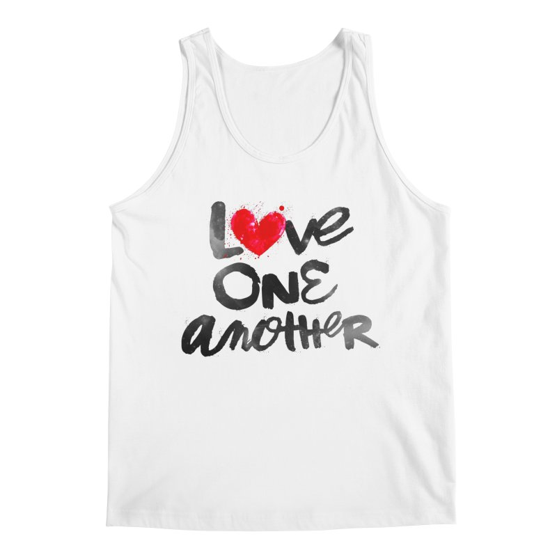 Love One Another Men's Regular Tank by Lumi