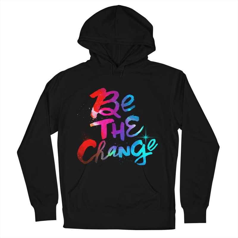 Be The Change Men's French Terry Pullover Hoody by Lumi