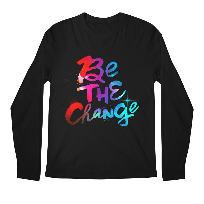 Be The Change Men's Regular Longsleeve T-Shirt by Lumi