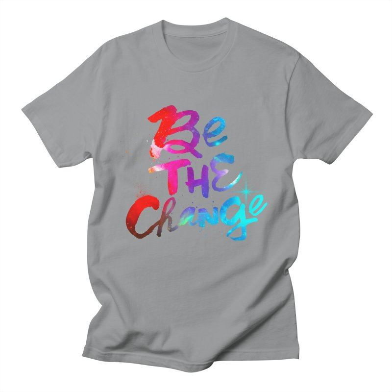 Be The Change Men's Regular T-Shirt by Lumi