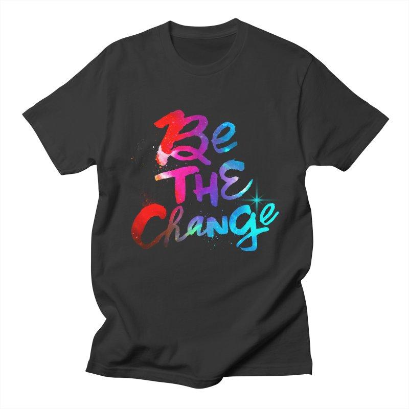 Be The Change Men's Regular T-Shirt by Lumi