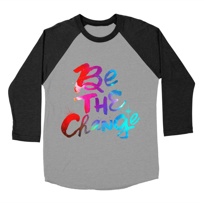 Be The Change Men's Baseball Triblend Longsleeve T-Shirt by Lumi