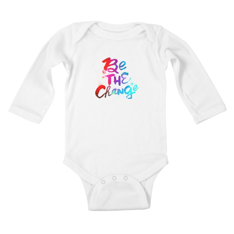 Be The Change Kids Baby Longsleeve Bodysuit by Lumi