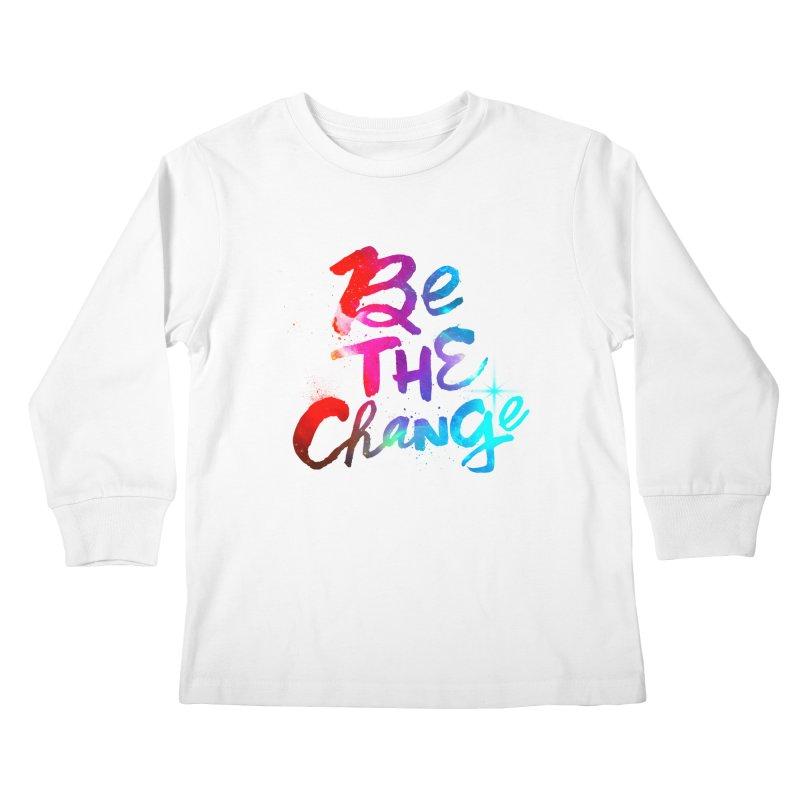 Be The Change Kids Longsleeve T-Shirt by Lumi