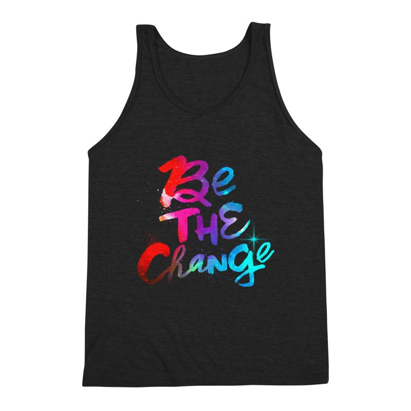 Be The Change Men's Triblend Tank by Lumi