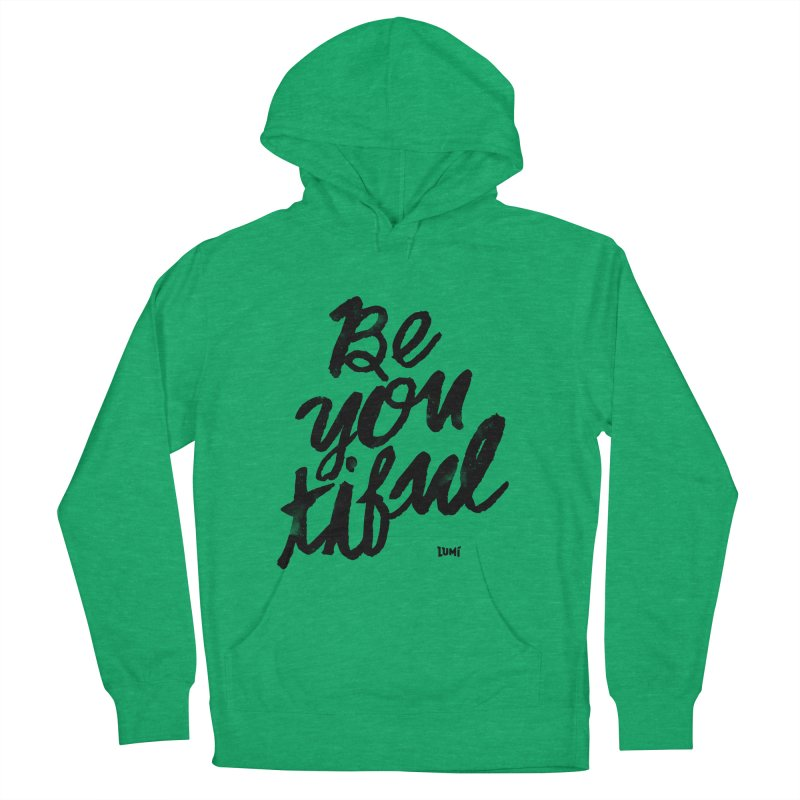 Be(You)Tiful Men's French Terry Pullover Hoody by Lumi