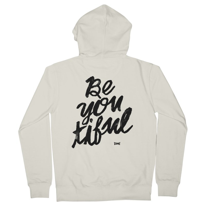 Be(You)Tiful Men's French Terry Zip-Up Hoody by Lumi