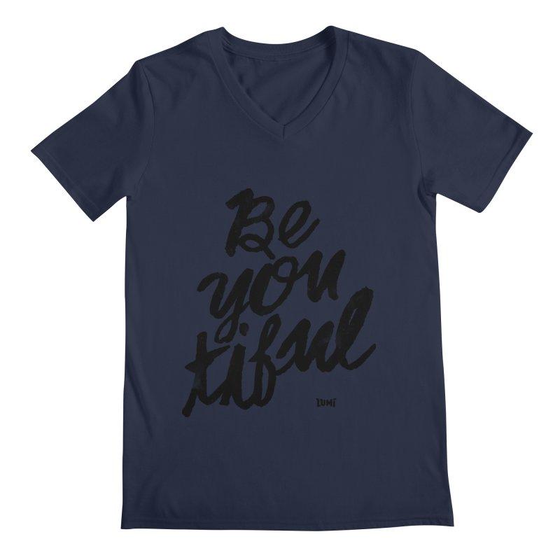 Be(You)Tiful Men's Regular V-Neck by Lumi