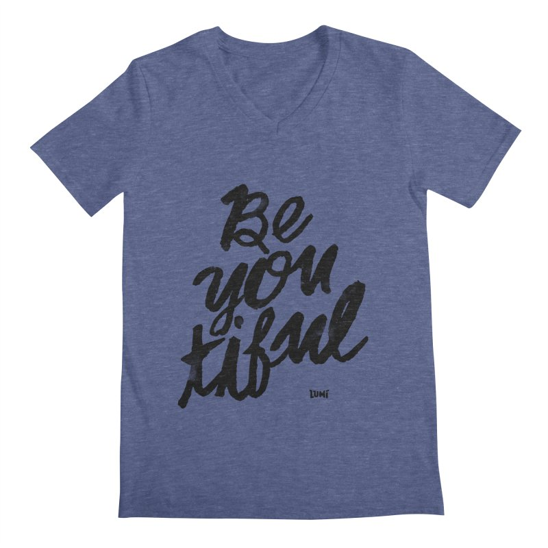 Be(You)Tiful Men's Regular V-Neck by Lumi