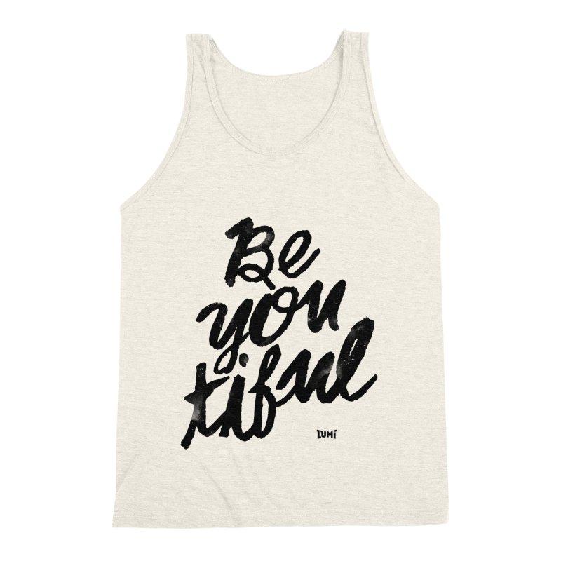 Be(You)Tiful Men's Triblend Tank by Lumi