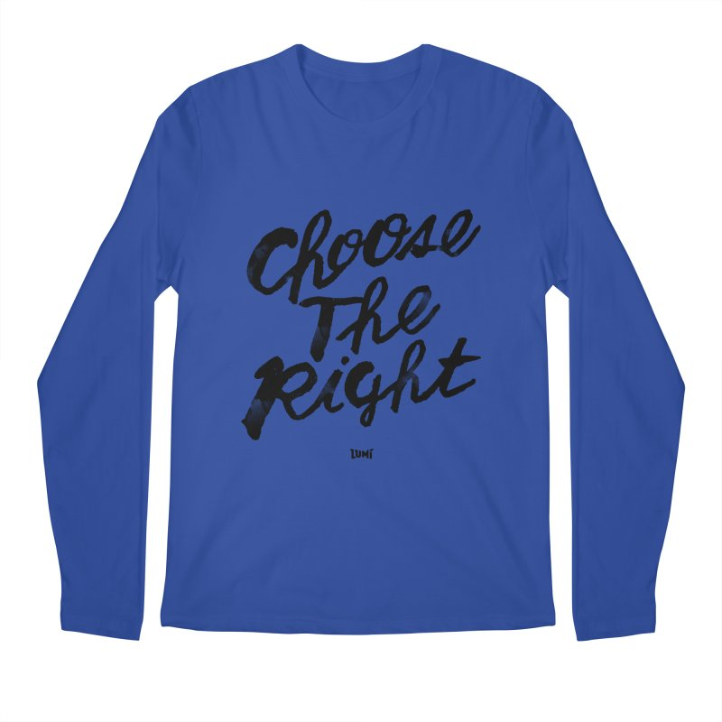 Choose The Right (CTR) Men's Regular Longsleeve T-Shirt by Lumi