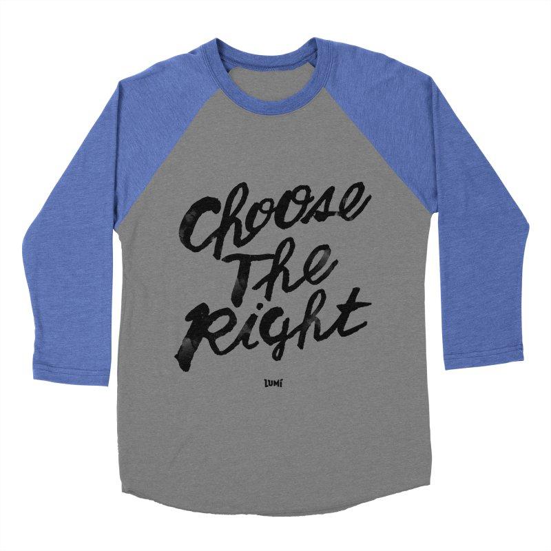 Choose The Right (CTR) Men's Baseball Triblend Longsleeve T-Shirt by Lumi