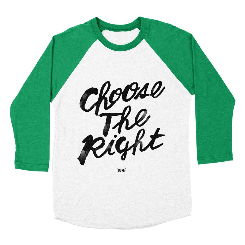 Choose The Right (CTR) Men's Baseball Triblend T-Shirt by Lumi