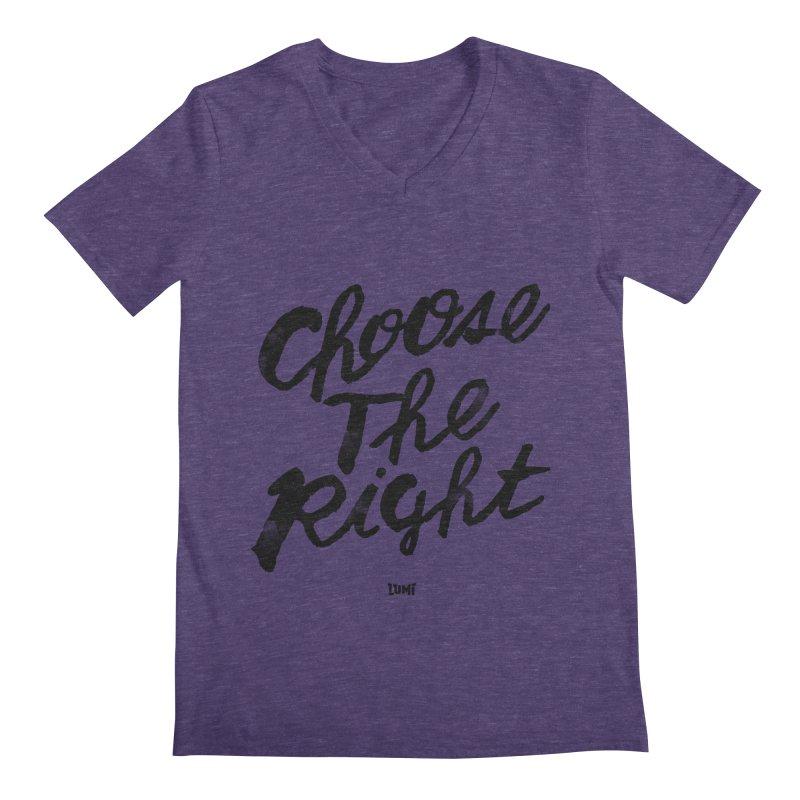Choose The Right (CTR) Men's Regular V-Neck by Lumi