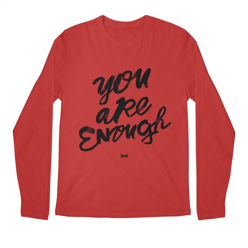You Are Enough Men's Regular Longsleeve T-Shirt by Lumi