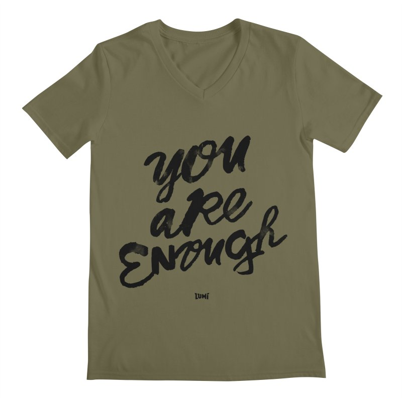 You Are Enough Men's Regular V-Neck by Lumi