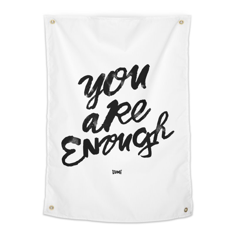 You Are Enough Home Tapestry by Lumi
