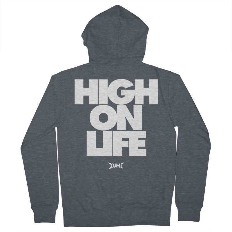 High On Life Men's Zip-Up Hoody by Lumi