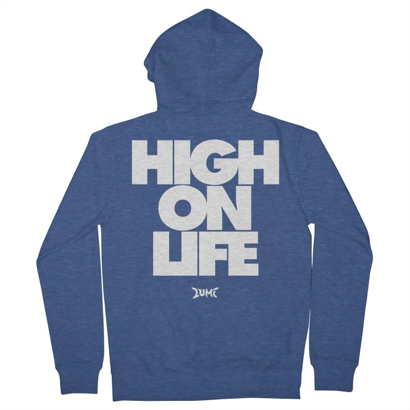High On Life Men's French Terry Zip-Up Hoody by Lumi
