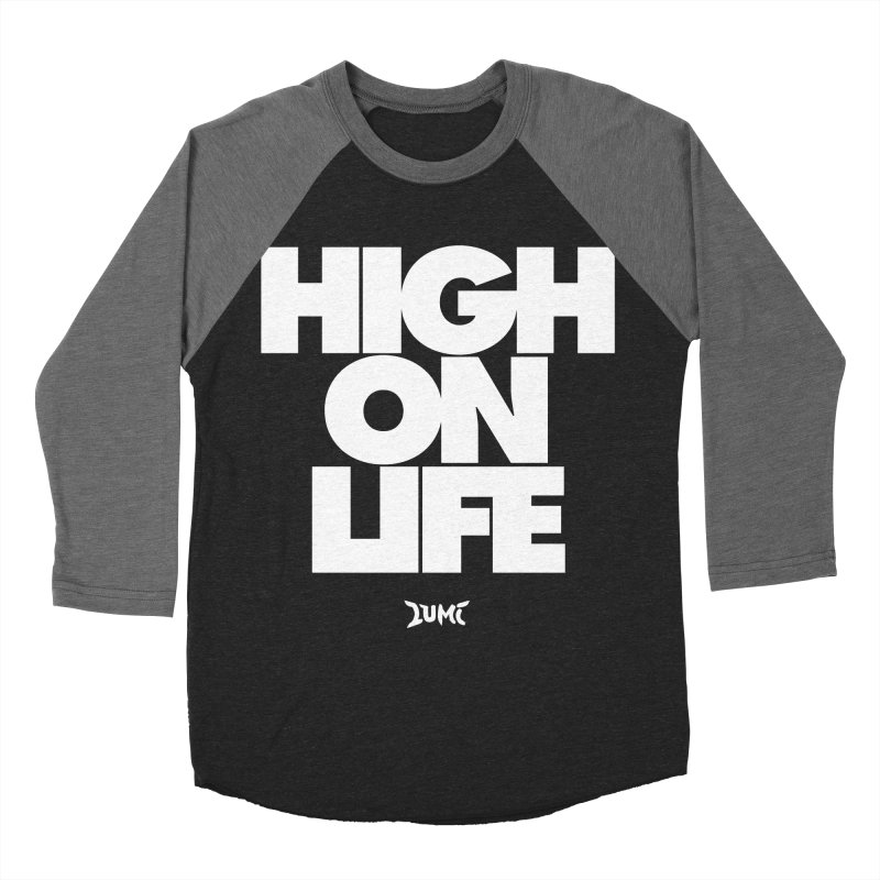 High On Life Women's Baseball Triblend T-Shirt by Lumi