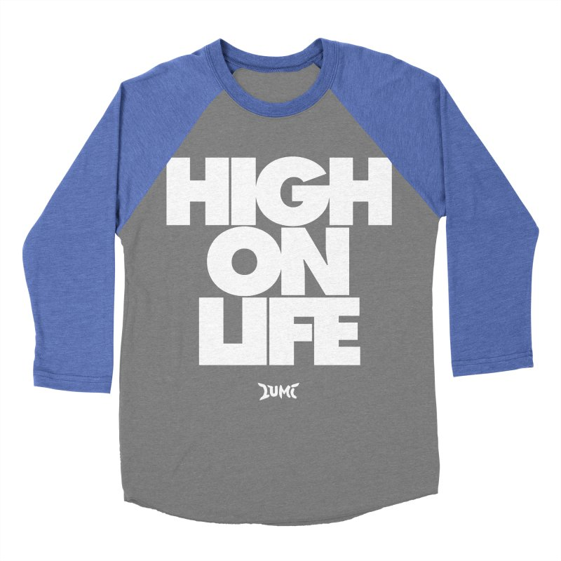 High On Life Men's Baseball Triblend Longsleeve T-Shirt by Lumi