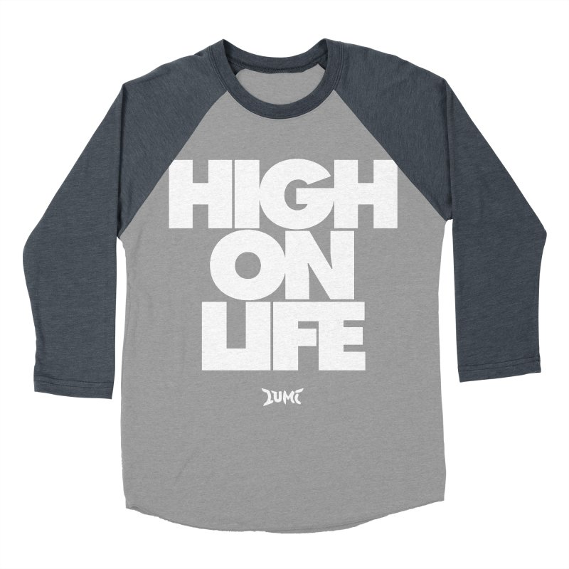 High On Life Men's Baseball Triblend T-Shirt by Lumi