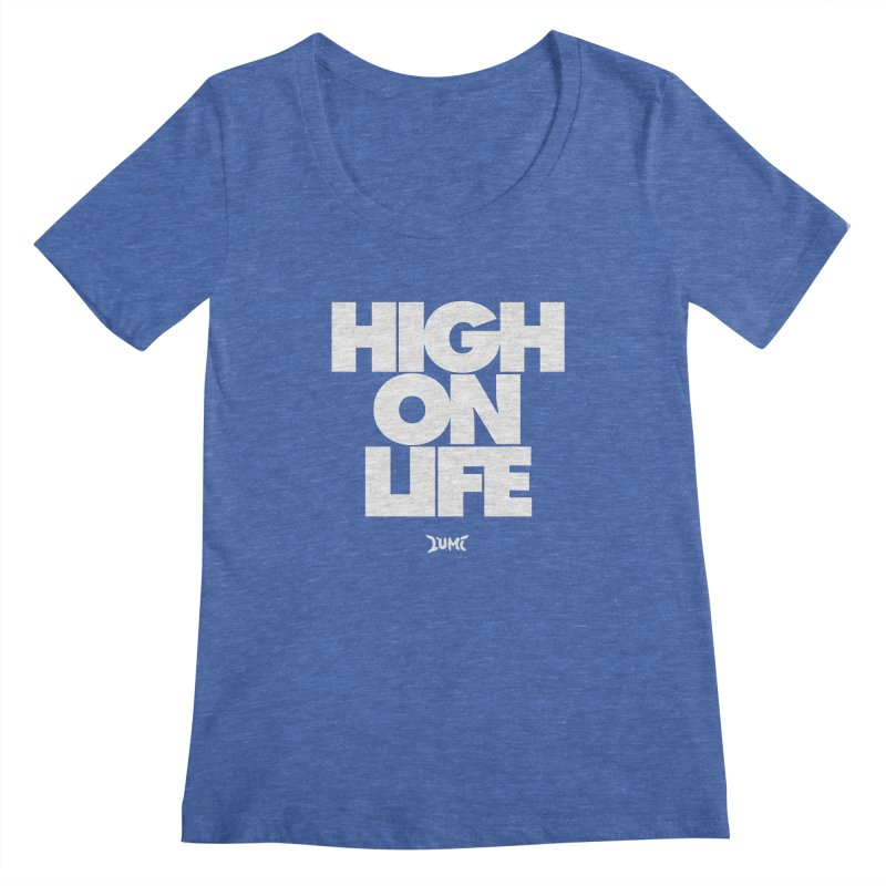 High On Life Women's Regular Scoop Neck by Lumi