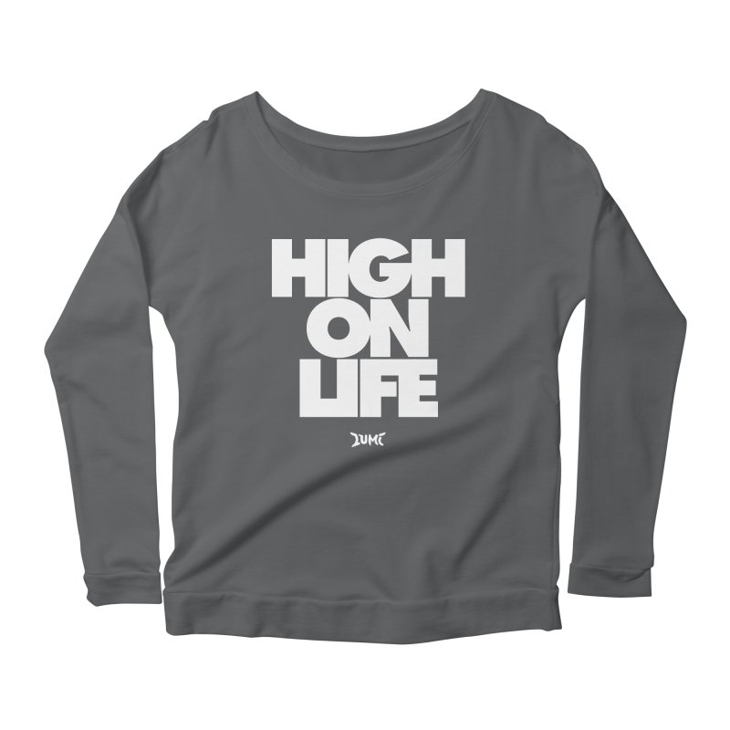 High On Life Women's Scoop Neck Longsleeve T-Shirt by Lumi