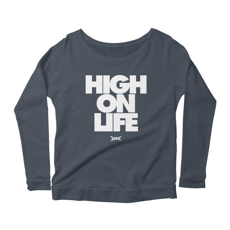 High On Life Women's Longsleeve Scoopneck  by Lumi